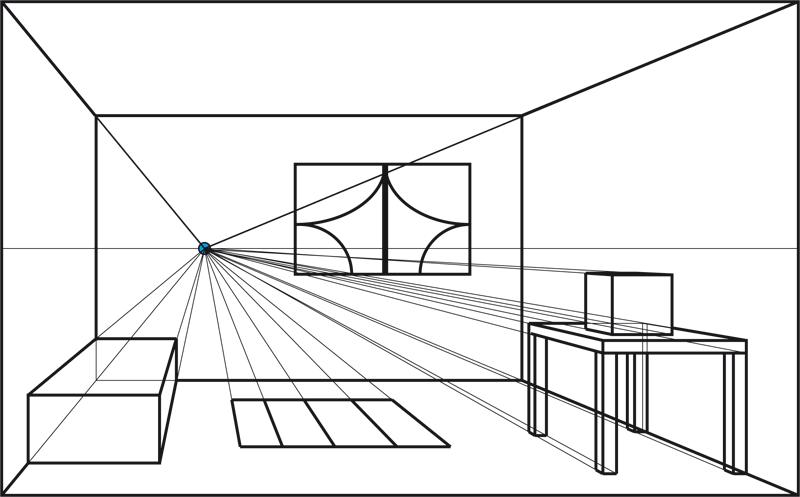 Il punto di fuga federica galli for Disegnare una stanza in 3d